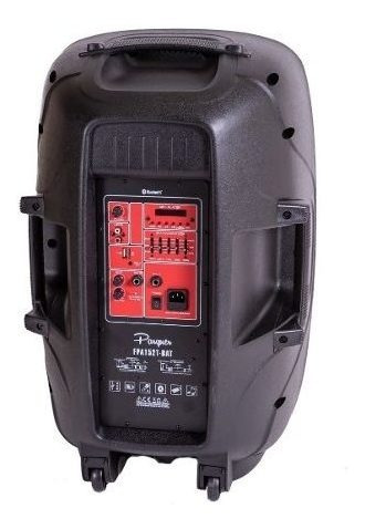 bafle activo bateria recargable parquer 15 bluetooth cuota