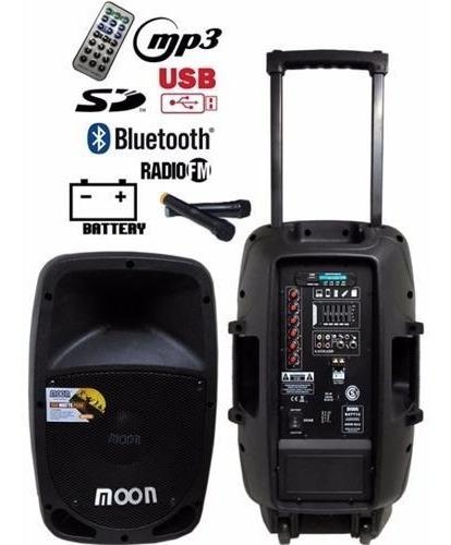 bafle activo parlante moon portatil bateria batt 15 c/ mic
