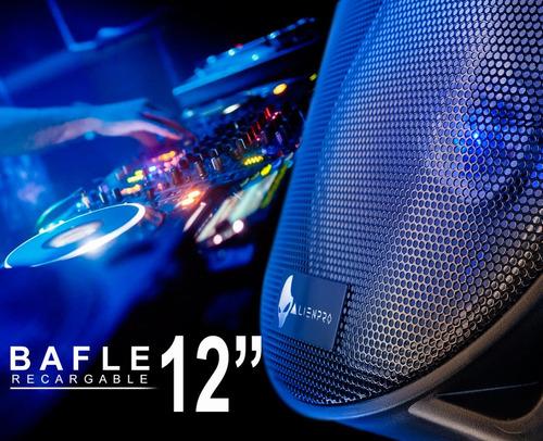 bafle alien roller 12 recargable 5000w con micro y llantas !