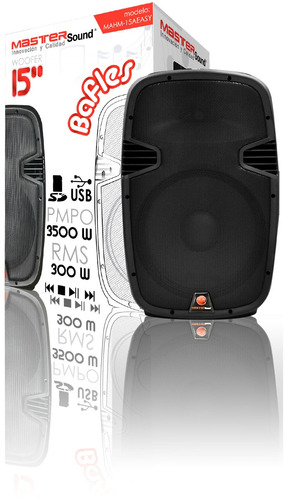 bafle amplificado 15 usb/sd 3500 watts potente oferta
