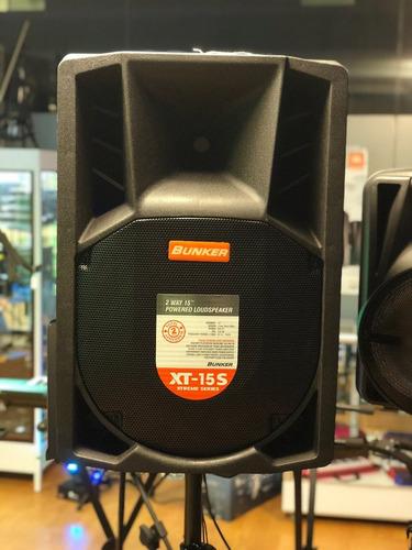 bafle amplificado con pantalla touch 15 pul, bunker xt-15s