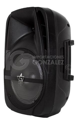 bafle amplificado gadiz de 8 pulgadas recargable usb/sd/fm bluetooth micrófono ecualizador d perilla