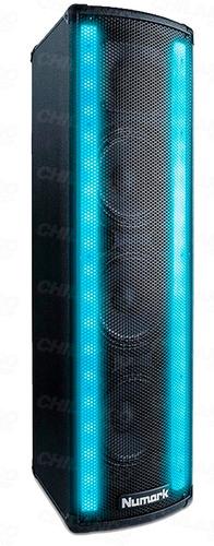 bafle amplificado iluminado numark lightwave