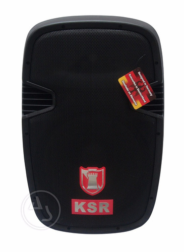 bafle amplificado ksr15 recargable + 2microfonos, au1