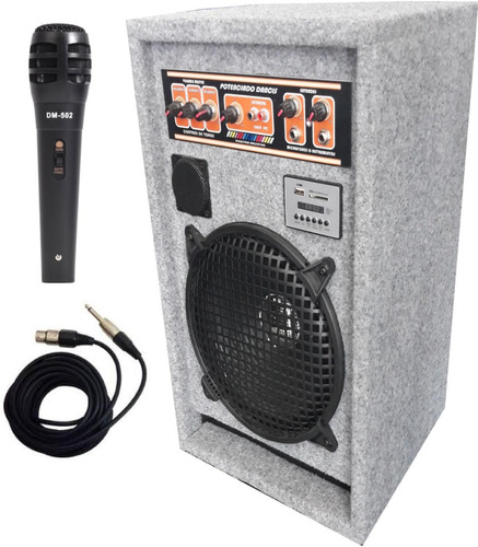 bafle amplificador dancis karaoke mixer usb fm mp3