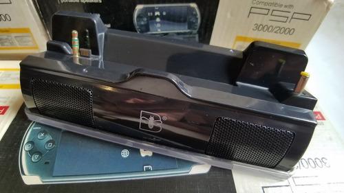 bafle/ base de carga/ blue light speaker - playstation psp