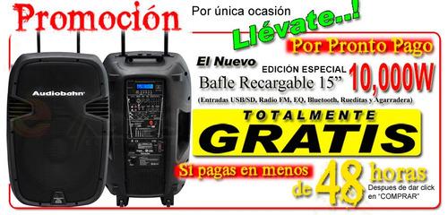 bafle bocina 10000w recargable  15 amplificado usb bluetooth