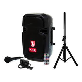 Bafle Bocina Ksr De 8 Pulg Bluetooth+ Tripié 4200w Msa-7908