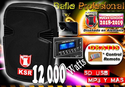 bafle bocina plastificado 15 amplificado usb sd display new