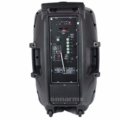bafle bocina recargable amplificado 15 bluetooth con micro