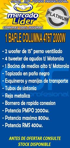 bafle columna profesional doble 15 t 2000w 3v oferta cjf