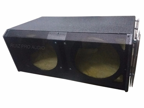 bafle lineal mr audio para 2 bocinas de 12 y agudo mr212