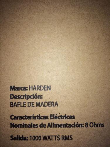 bafle para bajos 1x18 texturizado w 1000rms harden