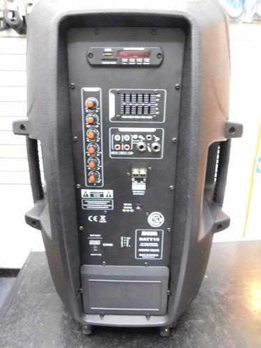 bafle portatil a bateria potenciado moon batt15  2mic esdj