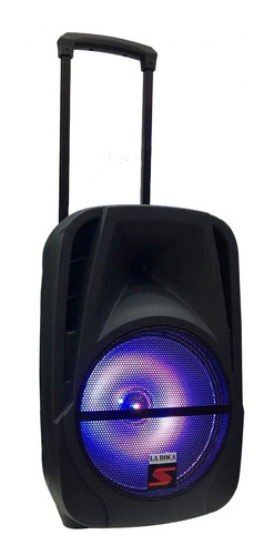 bafle potenciado 12 240w bluetooth usb sd bateria luces led