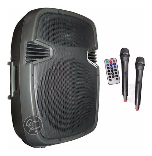 bafle potenciado 600w 15  bluetooth portatil 2 mic con remot