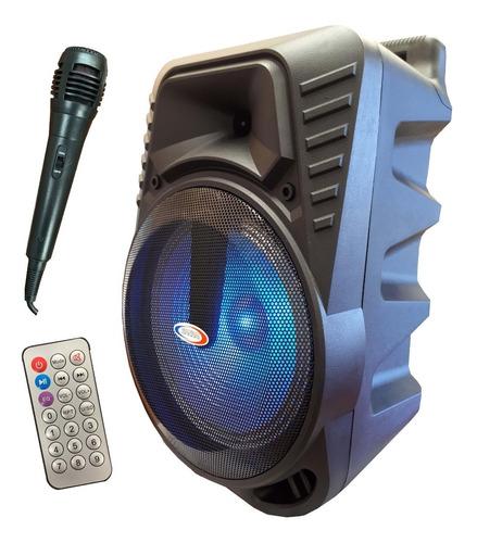 bafle potenciado bateria recargable usb+sd+bt mic. inalambr