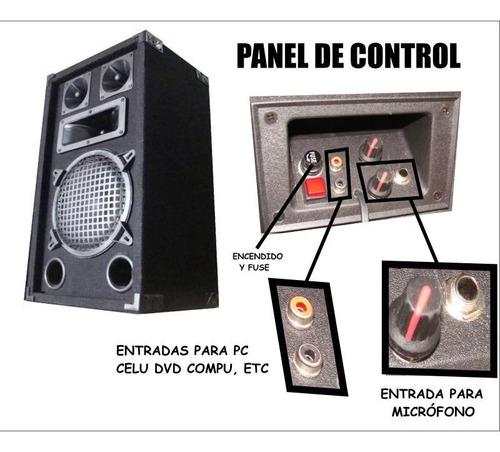 bafle potenciado dancis amplificador entrada pc y micrófono