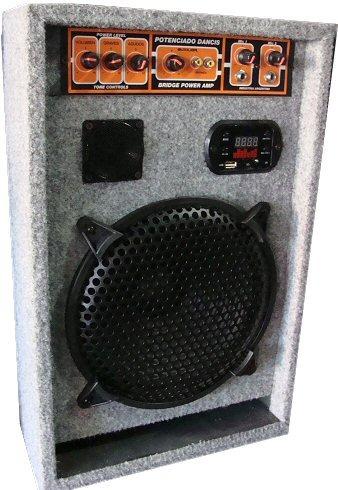 bafle potenciado entrada aux + 2 mic mp3 usb radio envio $0