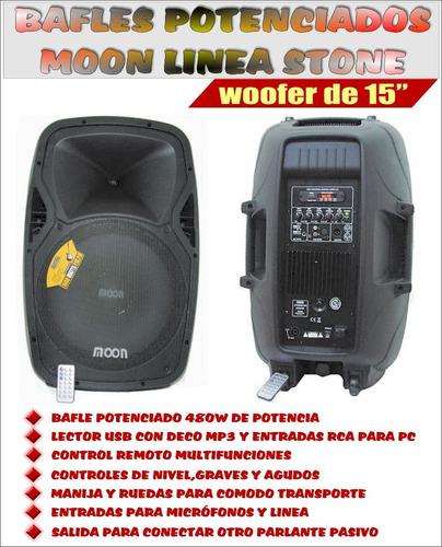 bafle potenciado moon stone15 usb/sd/bluetooth/radio 480w