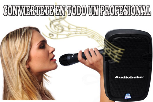 bafle recargable de 8  audiobahn con potencia y regalos wow
