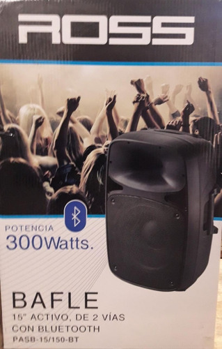 bafle ross pasb-15/100 bt activo 2 vias 300 watts