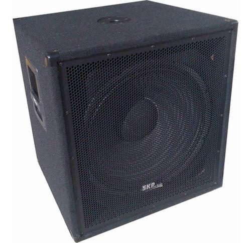 bafle sub low skp woofer 18 pulgadas 8 ohms graves sonido en vivo