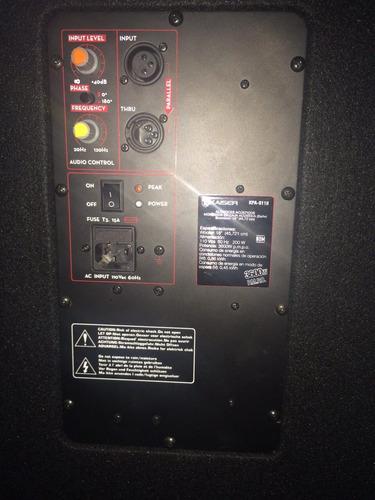bafle subwoofer 18 amplificado 3600w grave bajo altavoz boci