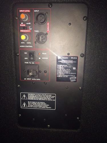 bafle subwoofer 18 amplificado 3600w grave bajo altavoz sub