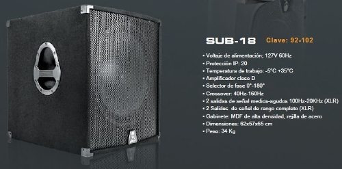 bafle subwoofer amplificado bocina 18 pulg alien sonido dj