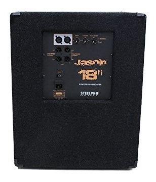 bafle subwoofer bocina 18 amplificado activo steelpro 500w