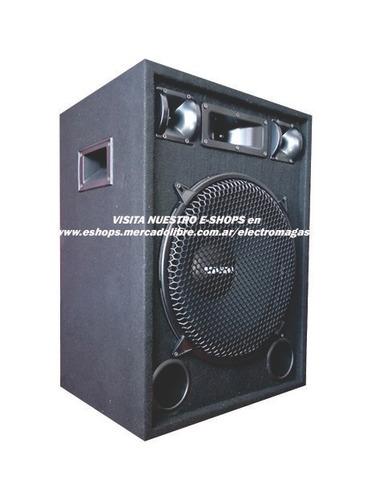 bafles 15 500w 3 vias x2 + potencia amplificador pa-300 300w