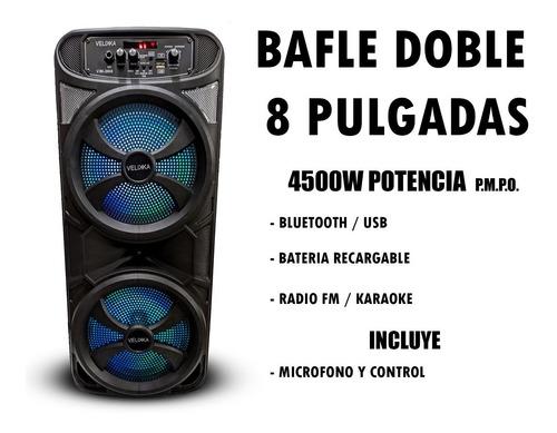 bafles amplificados bocina 8 pulgadas bluetooth velikka 1008
