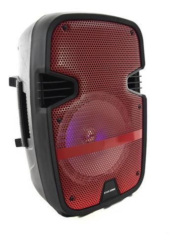 bafles amplificados bocina bluetooth 8 pulgadas recargable portatil microfono larga duracion usb fm auxiliar karaoke