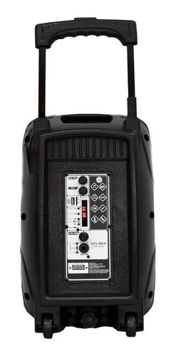 bafles amplificados bocina bluetooth 8 pulgadas recargable portatil microfono usb larga duracion  auxiliar fm karaoke