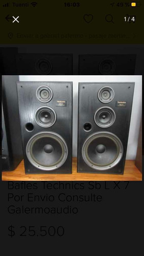 bafles technics sb lx 7 galermoaudio