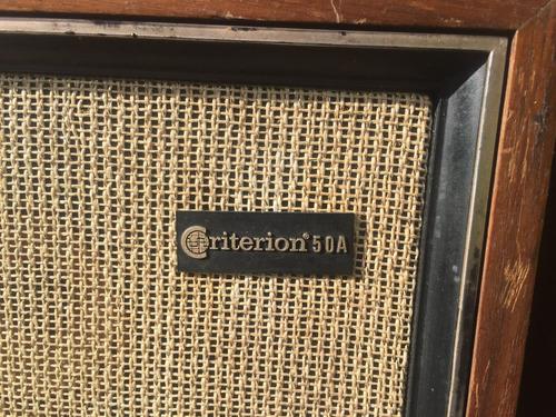 bafles vintage, parlantes criterion 50a  - hi-fi - 30w 8 ohm