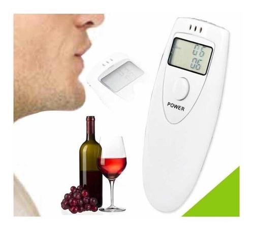 bafometro digital profissional medidor alcool branco c1786