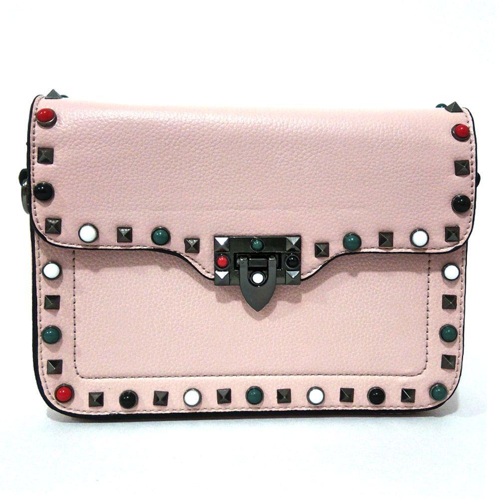 ecb558319 Bolsa Inspired Bag Strap Alça Colorida Inspired Rosa Clara - R$ 130 ...