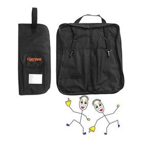 Bag Capa Preta Para Baquetas Liverpool Para 12 Pares 01p
