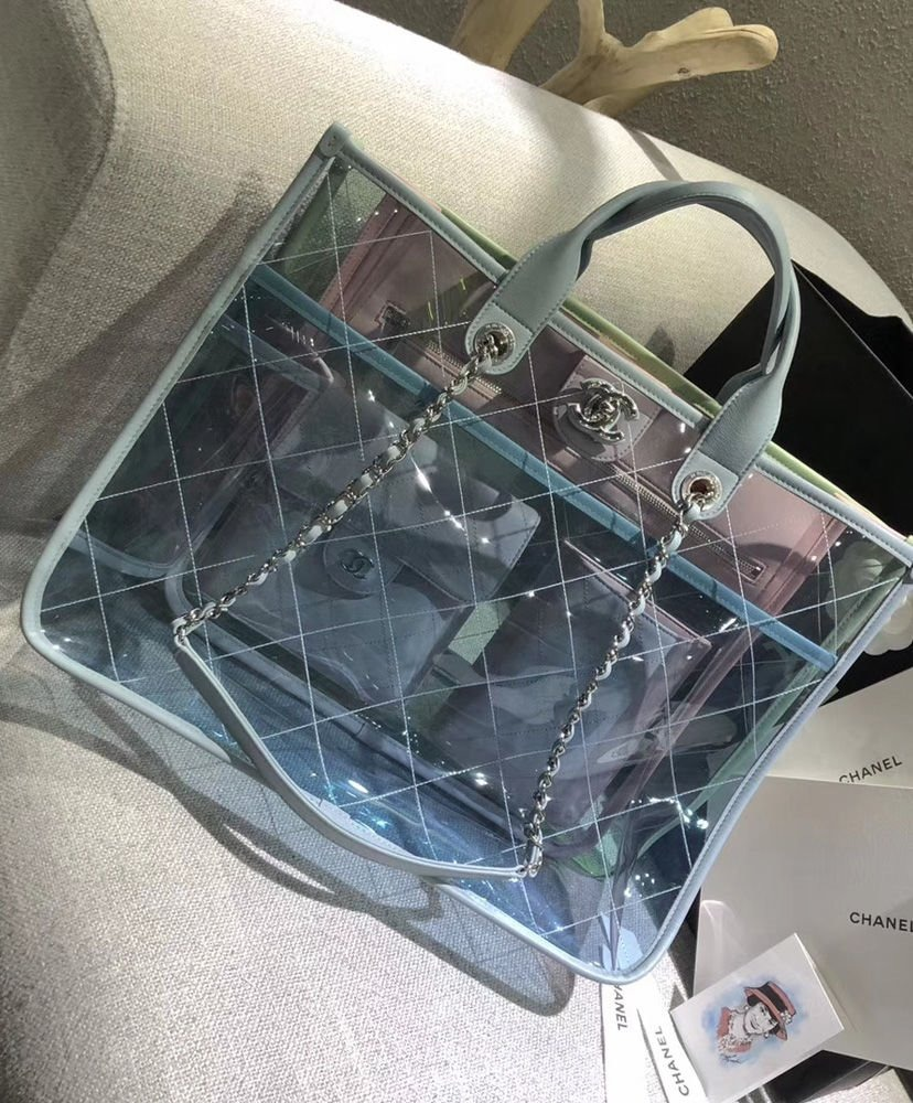 774bb724c Carregando zoom... bolsa chanel tote bag a57411 pvc feminina - importada