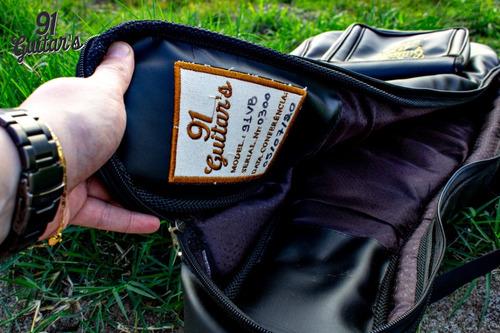 bag luxo violão/guita/bass 91 guitar's 3ª geração black 91