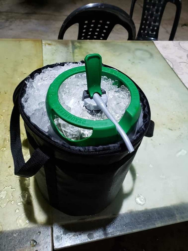 bag termico gela barril chopp heineken 5l c/ alça reforçado