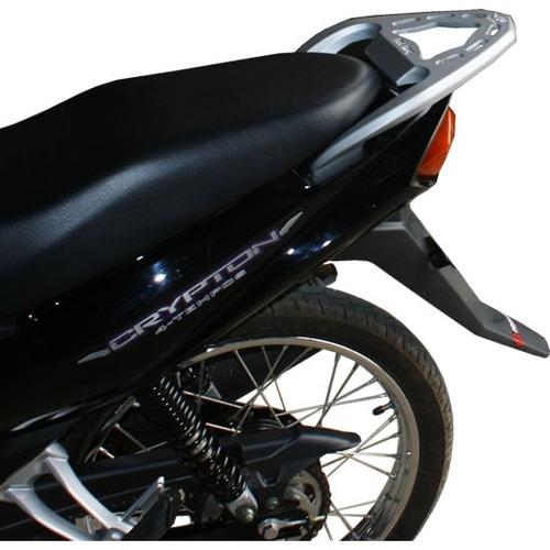 bagageiro crypton liga leve. suporte garupa p/ baú de moto