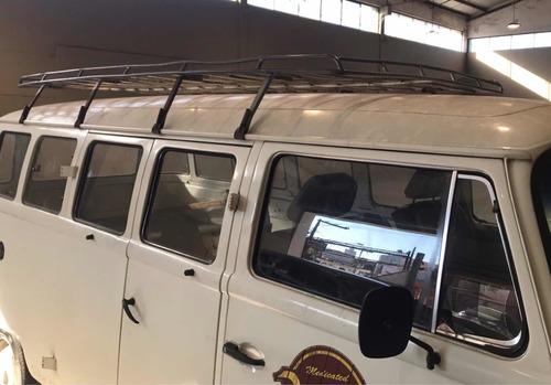 bagageiro de teto galvanizado vw kombi clipper corujinha