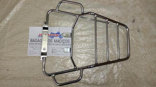 bagageiro ferro maciço c/ alça mix titan fan 150 125 09 à 14