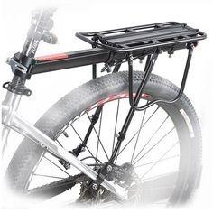bagageiro garupa alforge traseiro alumínio canote disco bike
