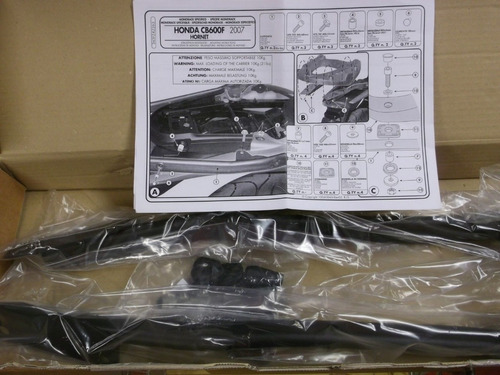 bagageiro suporte base bauleto givi 263fz hornet 2007/10
