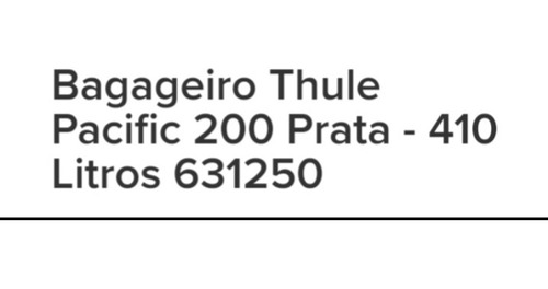 bagageiro thulle 200 pacífic