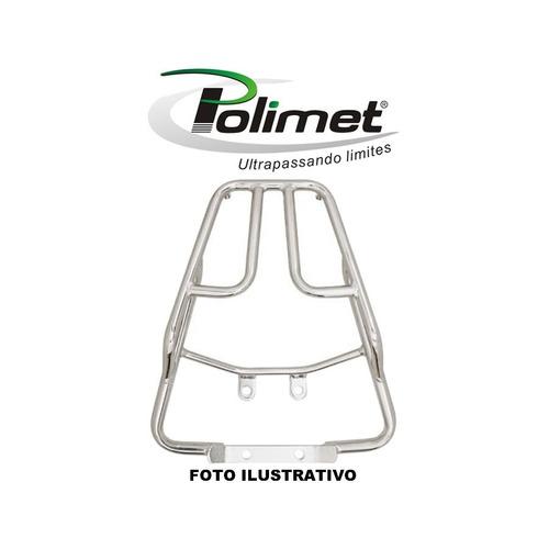 bagageiro twister 250 cromado - polimet